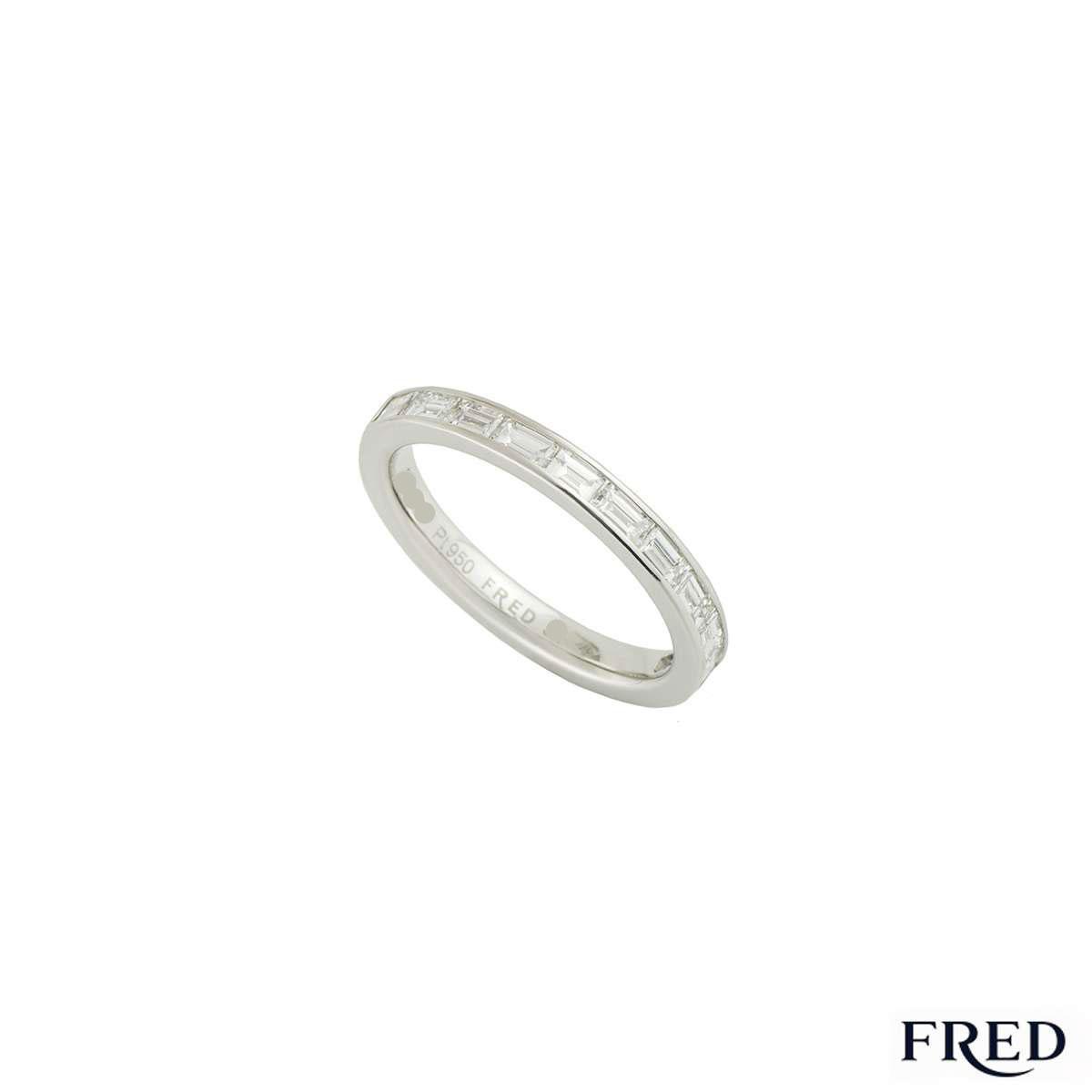 Fred Platinum Diamond Half Eternity Ring 0.55ct G+/VS+
